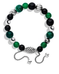 David Yurman | Green Spiritual Beads Bracelet | Lyst