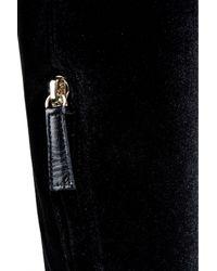 Alberta Ferretti   Grey Black Suede Thigh-high Boots   Lyst