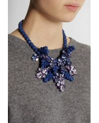 EK Thongprasert - Blue Silver-Plated, Silicone And Cubic Zirconia Necklace - Lyst
