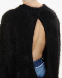 Vetements - Black Open-back Mohair Dress - Lyst