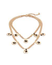 J.Crew | Metallic Dangling Crystal Necklace | Lyst
