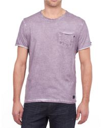 William Rast | Purple Faded Pocket T-shirt for Men | Lyst
