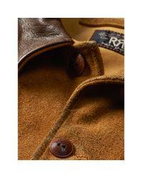 RRL - Natural Skinner Oiled-suede Jacket for Men - Lyst