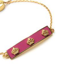 Juicy Couture | Pink Enamel Crown Slider Bracelet | Lyst