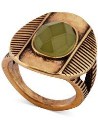 Lucky Brand - Metallic Gold-Tone Cat'S Eye Ring - Lyst