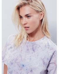 Free People - Purple Hero Crane Womens Washed Boxy Tee - Lyst