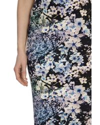 Coast - Blue Cherry Blossom Scuba Skirt - Lyst