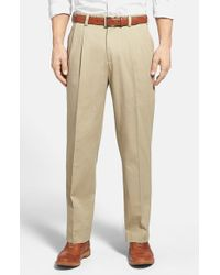 Bills Khakis | Natural 'm2' Standard Fit Pleated Vintage Twill Pants for Men | Lyst