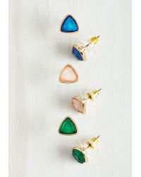 Ana Accessories Inc | Multicolor Tri Me Earring Set | Lyst