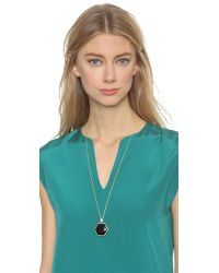 House of Harlow 1960 | Reversible Hexes Pendant Necklace - Black | Lyst
