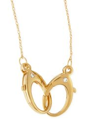 Jennifer Zeuner | Metallic 14K Gold Vermeil Large-Double-Clasp Necklace | Lyst