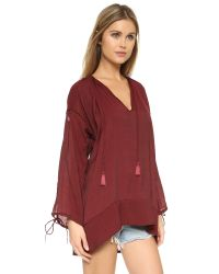 Faithfull The Brand - Red The Sunset Tunic - Lyst