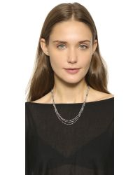 Eddie Borgo - Metallic Peaked Chain Necklace - Lyst