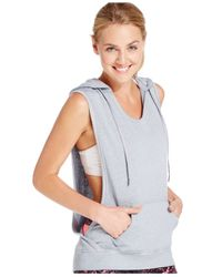 Calvin Klein | Gray Performance Sleeveless Pullover Hoodie | Lyst