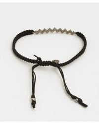 Tai | Black Rope And Zig Zag Crystal Cinch Bracelet | Lyst