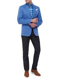 Jules B - Blue Jet Cotton Jacket for Men - Lyst