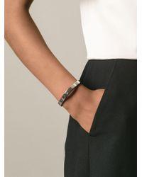 Chloé - Metallic Raised Curved Bangle - Lyst