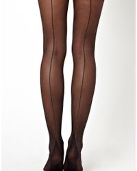 ASOS | Black Gold Seam Tights | Lyst