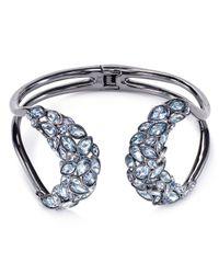 Alexis Bittar | Blue Miss Havisham Indigo Ice Mirrored Brake Hinge Bracelet | Lyst