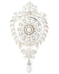 Givenchy | Metallic Filigree Brooch | Lyst
