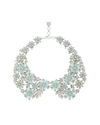 BCBGMAXAZRIA | Blue Floral Peter Pan Collar Necklace | Lyst