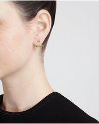 Yvonne Léon | Green 18K White Gold And Tsavorite Lobe Earring | Lyst