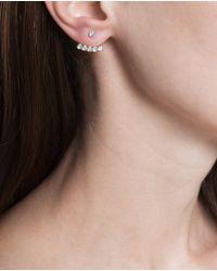 Yvonne Léon - Metallic 18k Gold Five Diamond Lobe Earring - Lyst
