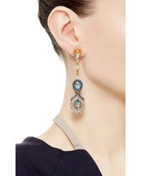 Abellan New York - Multicolor One Of A Kind Aquamarine, Mandarin Garnets And Diamond Earrings - Lyst