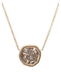 Susan Foster - Metallic Diamond Slice & Yellow-Gold Necklace - Lyst