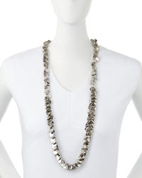 R.j. Graziano - Metallic Silvertone Leaf Drop Necklace - Lyst