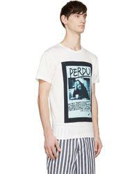 Yohji Yamamoto - White Ivory Missing Yohji T_shirt for Men - Lyst