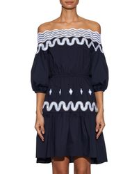 Peter Pilotto | Blue Pallas Off-The-Shoulder Dress | Lyst