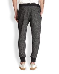 Theory - Brown Marble Terry Sweatpants for Men - Lyst