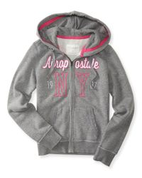 Aéropostale | Gray Aéropostale Ny Full-zip Hoodie | Lyst