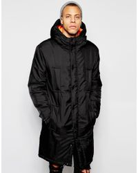 Cheap monday Area Parka Jacket in Black for Men | Lyst