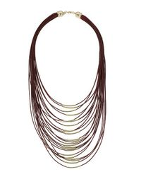 TOPSHOP - Purple Multi-row Thread Necklace - Lyst