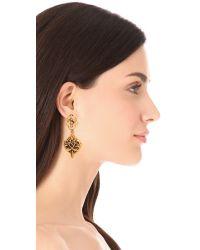 Oscar de la Renta - Metallic Ivy Gold-plated Crystal Clip Earrings - Lyst