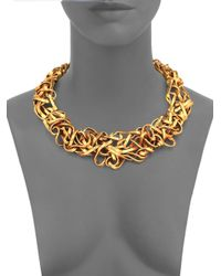 Oscar de la Renta | Metallic Ribbon Collar Necklace | Lyst