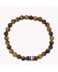 Tommy Hilfiger | Brown Bead Bracelet for Men | Lyst