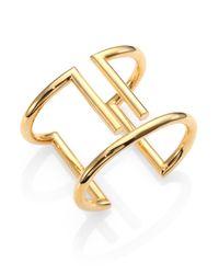 St. John - Metallic Tubular Cuff Bracelet - Lyst
