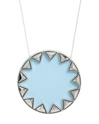 House of Harlow 1960 - Blue 1960 'sunburst' Pendant Necklace - Lyst