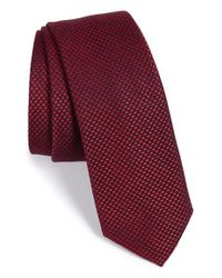 Calibrate - Red Houndstooth Silk Blend Tie for Men - Lyst