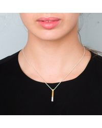 Maya Magal - Metallic Dipped Post Pendant Silver And Gold - Lyst