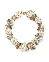 J.Crew | White Cosmos Cluster Necklace | Lyst