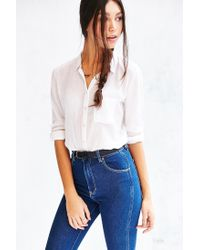 BDG - White Karina Button-down Shirt - Lyst