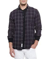 Rag & Bone | Black Placket Plaid Shirt for Men | Lyst