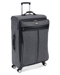 "Hartmann | Gray Closeout! Herringbone Classic 26"" Expandable Spinner Suitcase for Men 