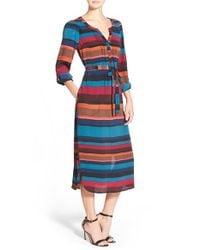 Plenty by Tracy Reese | Multicolor Kurta Midi Dress | Lyst
