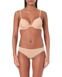 6445b125bf Calvin Klein. Women s Natural Naked Touch Tailored Stretch-jersey T-shirt  Bra
