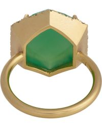Irene Neuwirth - Green Diamond, Chrysoprase & Gold Ring - Lyst